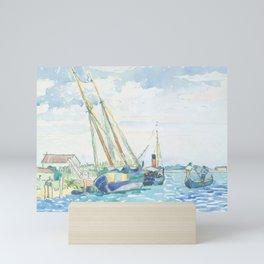 Marine Scene (Boats near Venice) by Henri-Edmond Cross1903, French Mini Art Print