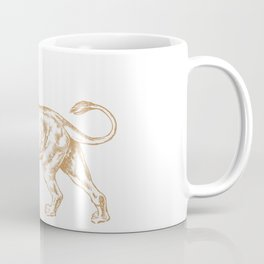 Strong Proud Lion Dark Gold Coffee Mug