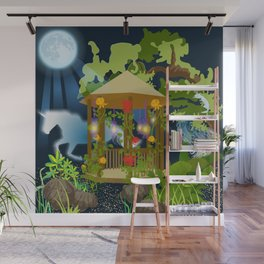 Full Moon Magical Garden Wall Mural