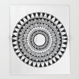 A4 Mandala 5 Throw Blanket