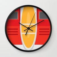 transformers Wall Clocks featuring Starscream Transformers Minimalist by Jamesy