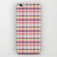 plaid iPhone & iPod Skins featuring Plaid by Livia Rett