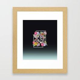 Read, just read Framed Art Print