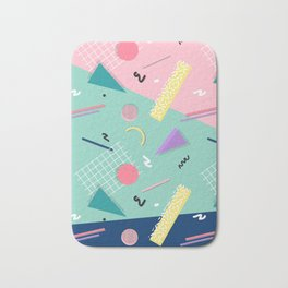 Dreaming 80s Pattern #society6 #decor #buyart Bath Mat