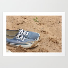 Vans in the Sand Art Print