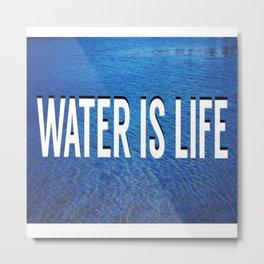 #WATERISLIFE fig. 2 Metal Print
