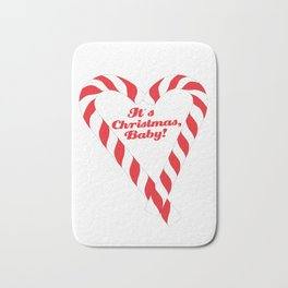 Candy Cane - It's Christmas, Baby! #xmas #christmas #minimal #love #design Bath Mat