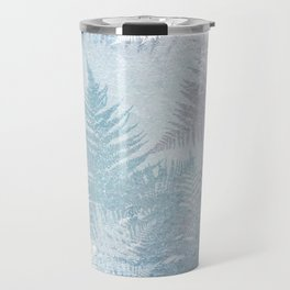 Fern Snowflakes - Taupe, Aqua & Blues Travel Mug