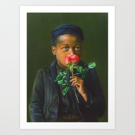 African American Masterpiece 'American Beauty' Portrait Painting Art Print