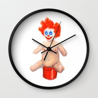 sparkles Wall Clocks featuring Sparkles by Distorted North
