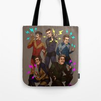 kendrawcandraw Tote Bags featuring Superlads by kendrawcandraw