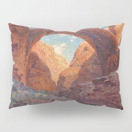 Rainbow Bridge, Glen Canyon, Utah Landscape Painting by William R. Leigh Pillow Sham