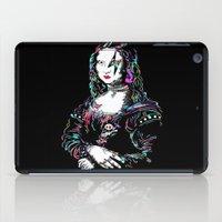 mona lisa iPad Cases featuring metal mona lisa by Vector Art