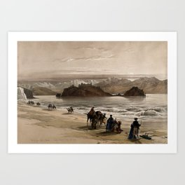 Vintage Print - The Holy Land, Vol 3 (1843) - The island known as Graia, in the Gulf of Akabah Art Print