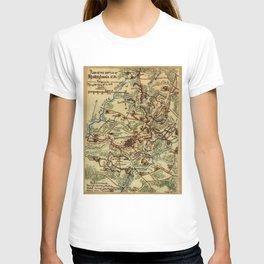 Vintage Spotsylvania Virginia Civil War Map (1865) T-shirt