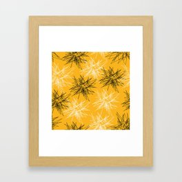 Yellow Squiggles Framed Art Print