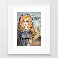 black widow Framed Art Prints featuring Widow by Aleksandra Jevtovic