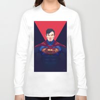 superman Long Sleeve T-shirts featuring Superman by Muito