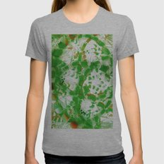 Green industrial abstract Womens Fitted Tee Athletic Grey SMALL