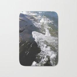Abstracted waves splashing ashore Bath Mat