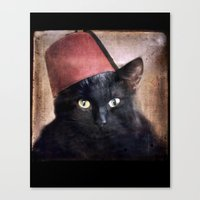 fez Canvas Prints featuring Fez Felix by The Lonely Pixel