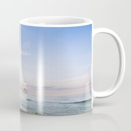 Watercolor Sunset at Okaloosa Island Pier Coffee Mug