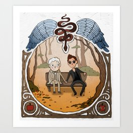 Over the Good Omens Wall Art Print