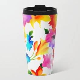 Dancing Floral Travel Mug