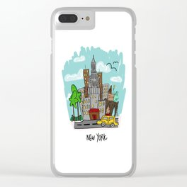 New York City, New York Clear iPhone Case