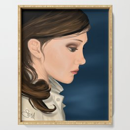 In Your Head Portrait Painting Serving Tray