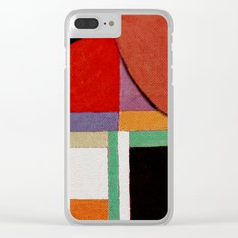 Женщина, яблоко, со змеем (Woman, an apple and the serpent) Clear iPhone Case