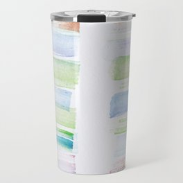 27  | 181101 Watercolour Palette Abstract Art | Lines | Stripes | Travel Mug