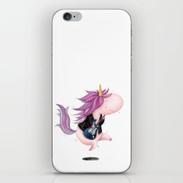 Badass Rocker Unicorn iPhone Skin