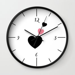 Love Forever Hearts Wall Clock