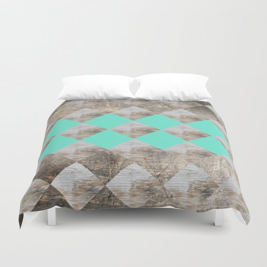 GeometricWood Duvet Cover