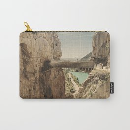 """The most dangerous trail in the world"". El Caminito del Rey Carry-All Pouch"
