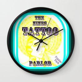 Steph Darling Design at The Nines Tattoo Parlor Wall Clock