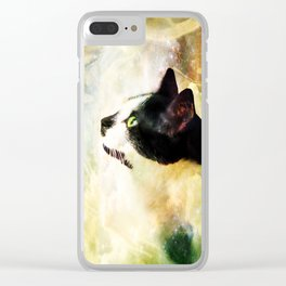 Gypsy Da Fleuky Cat and the Kitty Whisker Wishes Clear iPhone Case