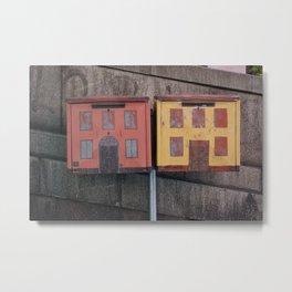 LETTER HOUSES Metal Print