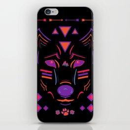 Eighties Wolf iPhone Skin