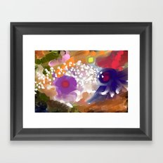 Into the circles  Framed Art Print