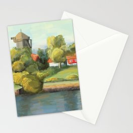 A Sunny Painterly Day in Swedish Countryside Stationery Cards
