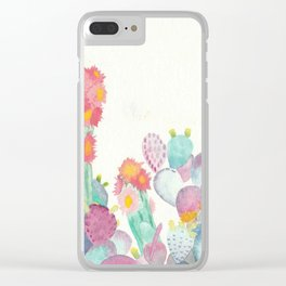 Pretty And Prickly Clear iPhone Case