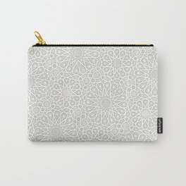 White Moroccan Tiles Pattern Carry-All Pouch