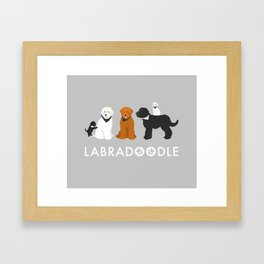 Labradoodle family Framed Art Print