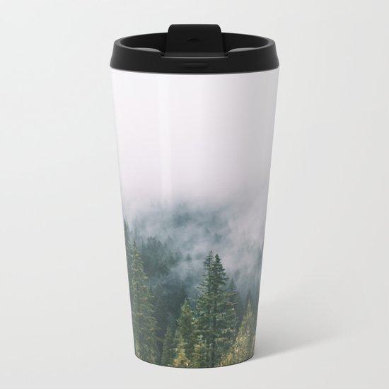 Forest Fog XI Metal Travel Mug