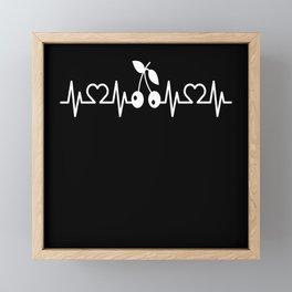 Heartbeat Pulse EKG Kirsch I Kirsch Lovers Framed Mini Art Print