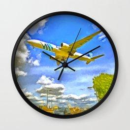 Airliner Pop Art Wall Clock