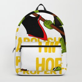 Hippity Hoppity Abolish Private Property Frog Meme design Backpack