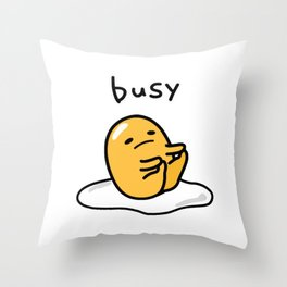 Gudetama Busy Throw Pillow